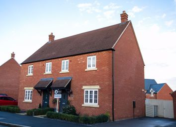 Thumbnail 3 bed semi-detached house for sale in Delorean Way, Brackley