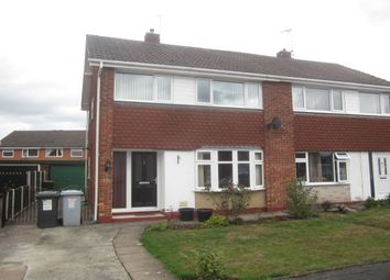 Thumbnail 3 bed semi-detached house for sale in Drury Close, Crewe