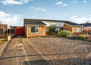 Thumbnail 3 bed semi-detached bungalow for sale in Primrose Road, Hingham, Norwich
