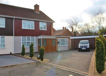 Thumbnail 4 bed semi-detached house for sale in Freemans Close, Leamington Spa