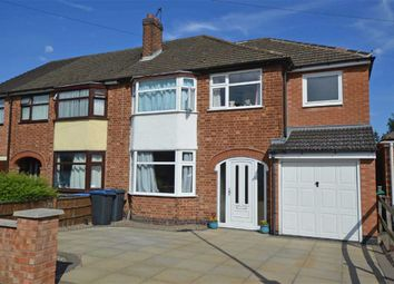 Thumbnail 4 bed semi-detached house for sale in Marina Drive, Groby, Leicester