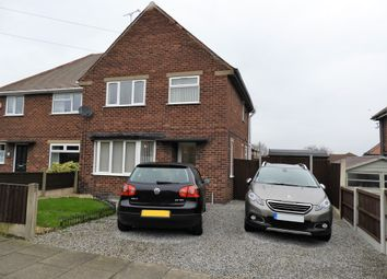 Thumbnail 3 bed semi-detached house for sale in Robin Hood Avenue, Warsop, Mansfield
