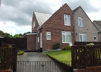 Thumbnail 2 bed semi-detached house to rent in Kell Crescent, Sherburn Hill, Durham