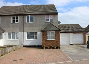 Thumbnail 3 bed semi-detached house for sale in Hazel Close, St. Austell