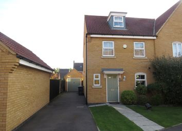 Thumbnail 3 bedroom town house for sale in Lyvelly Gardens, Peterborough