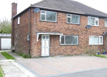 Thumbnail 3 bed semi-detached house to rent in Belloc Close, Crawley