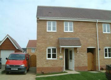 Thumbnail 2 bedroom end terrace house to rent in Underwood Close, Lowestoft
