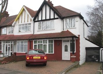 Thumbnail 3 bed semi-detached house to rent in Fairfield Crescent, Edgware, Middlesex