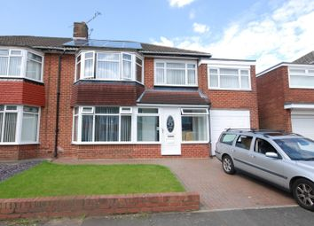 Thumbnail 5 bed semi-detached house to rent in Easedale Avenue, North Gosforth, Newcastle Upon Tyne