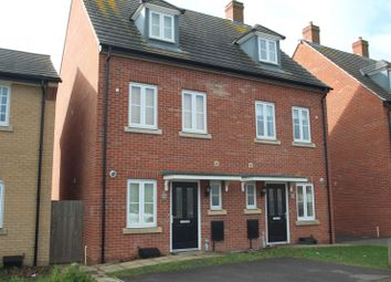 Thumbnail 3 bed semi-detached house to rent in Christie Drive, Huntingdon