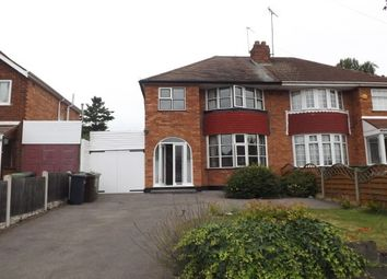Thumbnail 3 bed property to rent in Wells Green Road, Solihull
