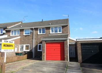 Thumbnail 3 bed semi-detached house for sale in Buxton Close, Newport