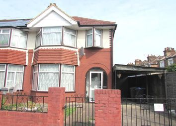 Thumbnail 3 bed end terrace house to rent in Burns Road, Wembley, Middlesex
