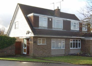 Thumbnail 3 bed semi-detached house to rent in Turnpike Drive, Warden Hills, Luton