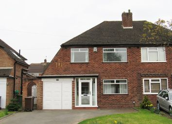 Thumbnail 3 bed semi-detached house for sale in Willow Road, Shirley, Solihull