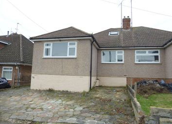 Thumbnail 4 bedroom semi-detached bungalow for sale in Plantation Road, Hextable, Swanley
