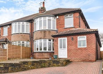 Thumbnail 3 bed semi-detached house for sale in West Park Drive West, Roundhay, Leeds