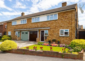 Thumbnail 3 bed semi-detached house for sale in Knights Walk, Abridge, Romford, Essex