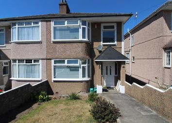 Thumbnail 3 bed semi-detached house for sale in Hanover Close, Efford Lane, Mannamead, Plymouth
