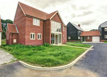 Thumbnail 4 bed detached house for sale in School View, Caston, Attleborough