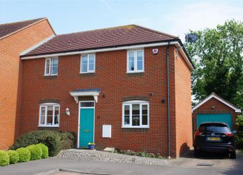 Thumbnail 3 bed semi-detached house for sale in Lincroft, Cranfield, Bedford