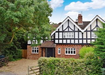 Thumbnail 4 bed semi-detached house for sale in Bath Road, Halfway, Newbury