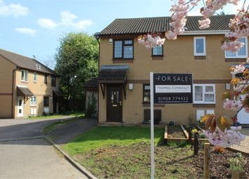 Thumbnail 2 bedroom semi-detached house for sale in Kidd Close, Crownhill, Milton Keynes, Buckinghamshire