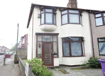 Thumbnail 3 bed end terrace house for sale in Queens Drive, Liverpool