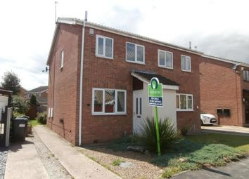 Thumbnail 2 bed semi-detached house to rent in Crossfield Drive, Skellow, Doncaster