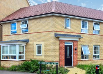 Thumbnail 3 bed semi-detached house for sale in Albert Crescent, Hampton Vale, Peterborough