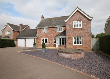 Thumbnail 4 bed detached house for sale in Hardingham Road, Hingham, Norwich