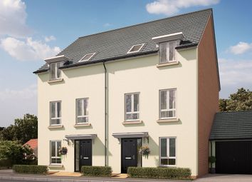 "Thumbnail 4 bed terraced house for sale in ""The Wellington"" at Swallow Field, Roundswell, Barnstaple"