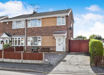Thumbnail 3 bed semi-detached house for sale in Bramell Close, Branston, Burton-On-Trent