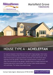 Thumbnail 4 bed detached house for sale in Plot 6, Marlefied Grove, Tibbermore 1Pz1Nq
