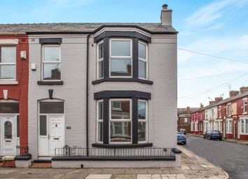 Thumbnail 4 bedroom end terrace house for sale in Alderson Road, Wavertree, Liverpool