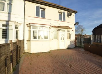 Thumbnail 3 bed end terrace house to rent in Crabtree Avenue, Wembley