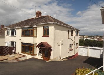 Thumbnail 3 bed semi-detached house for sale in Highland Road, Chelston, Torquay