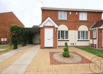 Thumbnail 2 bed semi-detached house for sale in Hensfield Grove, Darlington