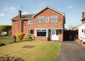 Thumbnail 3 bedroom semi-detached house for sale in Sherwood Crescent, Market Drayton