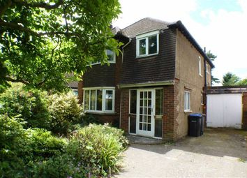 Thumbnail 3 bed detached house to rent in Byfleet Road, New Haw, Surrey
