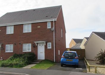Thumbnail 3 bed semi-detached house to rent in Heol Y Fronfaith Fawr, Broadlands, Bridgend.