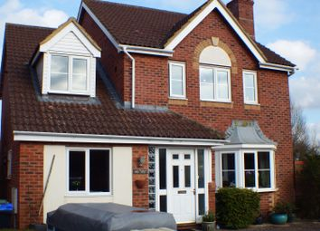 Thumbnail 4 bed detached house to rent in Paxmans Road, Westbury