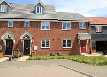 Thumbnail 3 bed town house for sale in Tortoiseshell Drive, Attleborough
