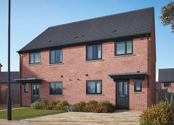"Thumbnail 3 bedroom semi-detached house for sale in ""The Eveleigh"" at Gidding Road, Sawtry, Huntingdon"