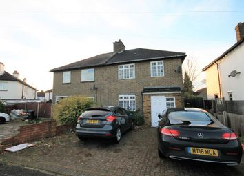 Thumbnail 3 bed semi-detached house to rent in Jutsums Lane, Romford