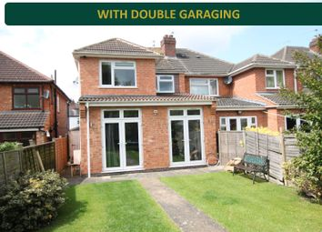 Thumbnail 4 bed semi-detached house for sale in Raeburn Road, Knighton, Leicester