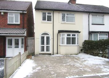 Thumbnail 3 bed semi-detached house to rent in Mervyn Road, Handsworth, Birmingham