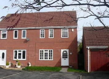 Thumbnail 3 bed semi-detached house for sale in Burwell Reach, Orton Longueville, Peterborough
