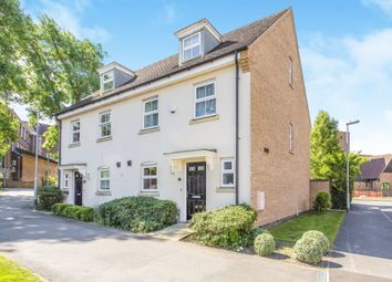Thumbnail 3 bed town house for sale in North Lodge Drive, Papworth Everard, Cambridge