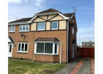 Thumbnail 2 bed semi-detached house for sale in Malvern Close, Ashington